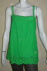 ROXY-Taille-XL-42-Superbe-debardeur-long-tunique-sans-manche-vert-femme