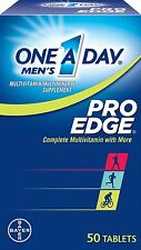 2 Pack One-A-Day Men's Pro Edge Complete Multivitamin 50 Tablets Each