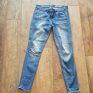 Madewell-Women-039-s-Blue-Skinny-Ankle-Jeans-Size-25-distressed