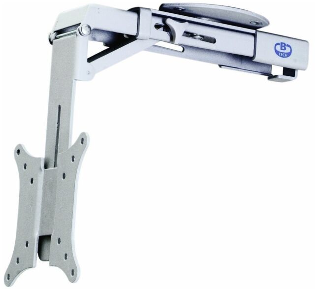 BT7525 LCD TV UNDER CABINET FLIP DOWN & ROTATABLE BRACKET, WHITE FINISH