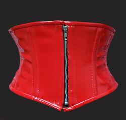 Taillen korsett corsage aus PVC Rot schwarz Gr 34,36,38,40,42,44,46,bis 56