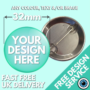 32mm-Custom-Badges-Personalised-Button-Badge-Bespoke-Hen-amp-Stag-Wedding-Charity