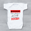 miniature 1 - Warning Don't Check Daddy Mummy Is PSYCHO! Funny Baby Grow Body Suit Vest
