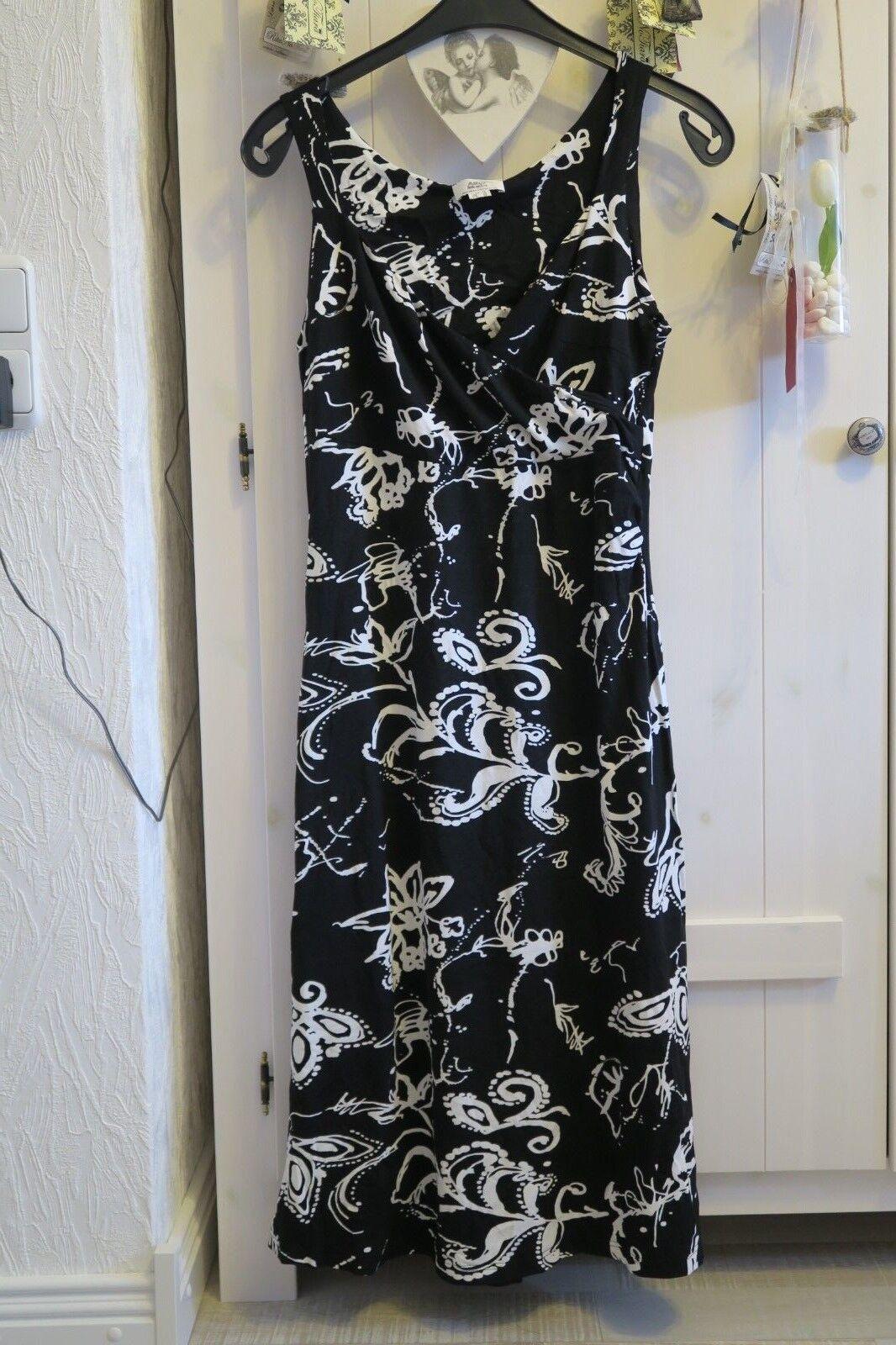 Tunika, Kleid, Maxikleid, Gr. 42, Schwarz-Weiß von Alba Moda - ein Traum