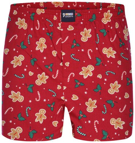 Happy Shorts Caleçons Boxer Shorts Slip avec des motifs de Noël en coton