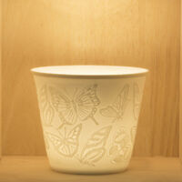 Tea Light/Tealight Holder ~ Nordic Lights ~ BUTTERFLY (25) ~ Ceramic/Porcelain