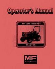 Massey Ferguson MF 1010 MF1010 Hydro Garden Tractor Owner Operators Manual