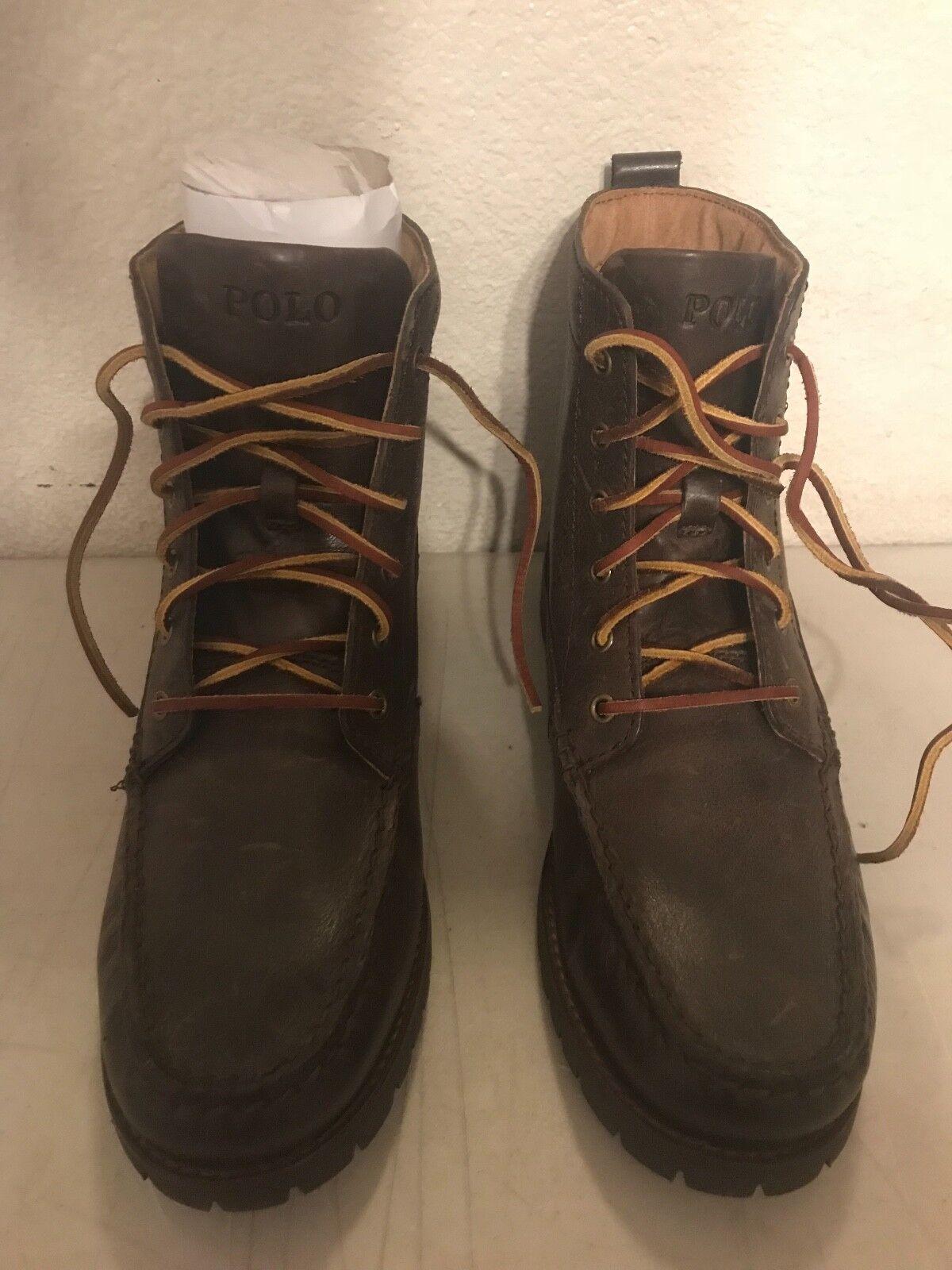 Para hombres Polo Ralph Lauren  Rodway-Bo-Csl  botas de cuero marrón (tamaño  7.5M)