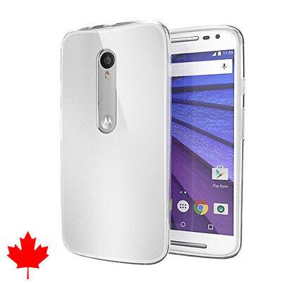 Motorola Moto G3 3rd Gen Case Crystal Clear Soft Transparent TPU Thin Soft