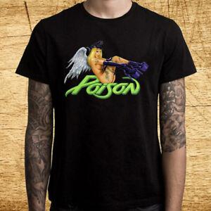 7d390ce17d8 Details about POISON Winged Babe Logo Men's Black T-Shirt Size S M L XL 2XL  3XL