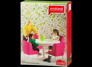 Lundby-Smaland-Dining-Room-Set-Brand-New