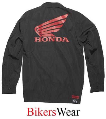 Honda Casual Jacket One Industries Linden Windbreaker Black Jacket