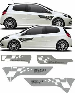 Renault-Clio-R-S-197-200-R27-Style-Side-Rear-Front-Decals-stickers-EXACT-FIT