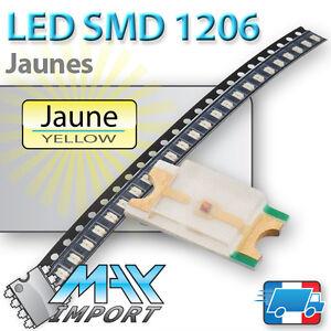LED-SMD-CMS-1206-Jaunes-Yellow-Jaune-Lots-multiples-prix-degressifs