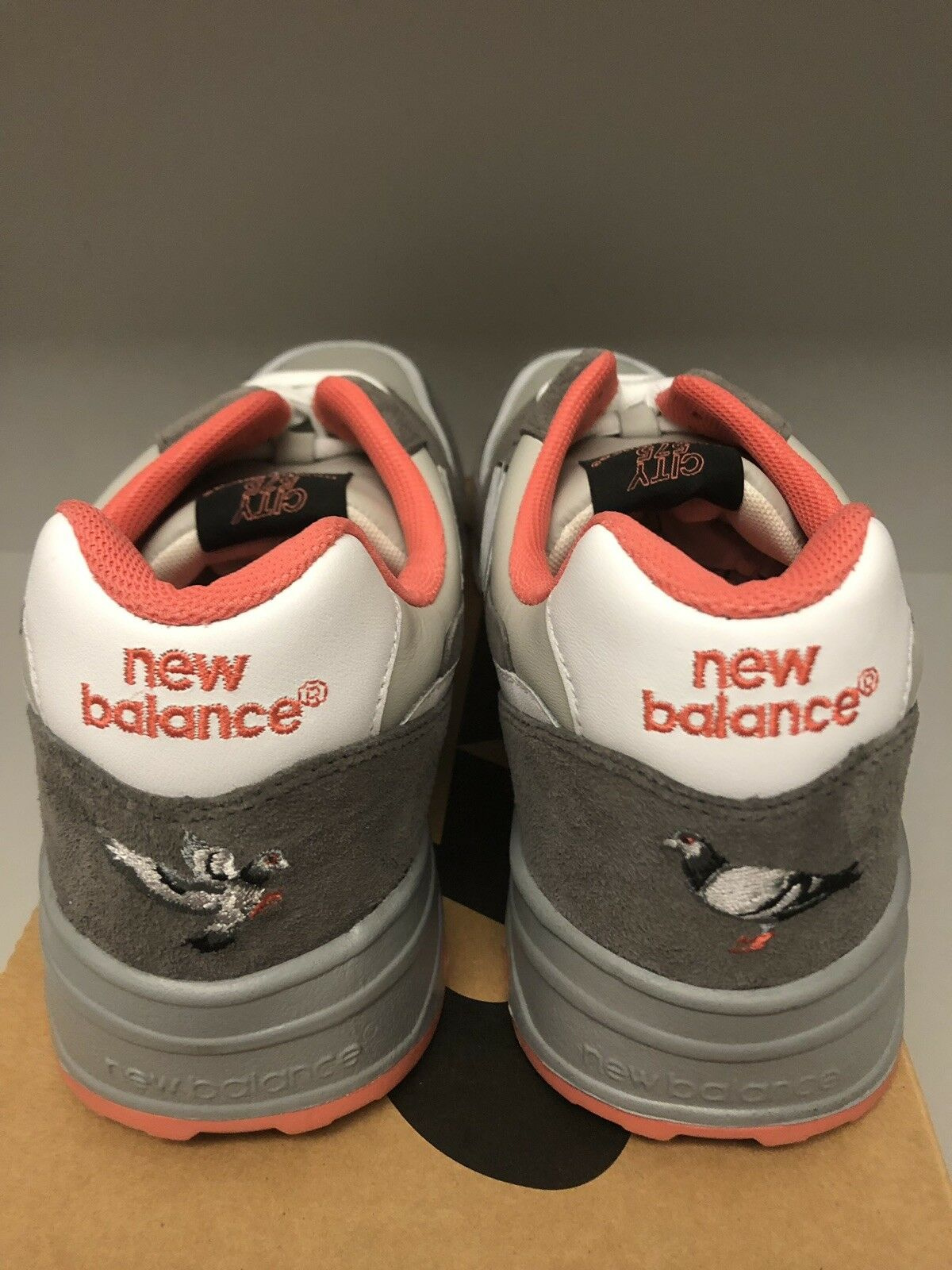NEW BALANCE 575 X STAPLE PIGEON GREY DS 12 GREY PINK WHITE 2008 RELEASE