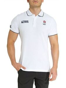 Official Canterbury Men/'s Rugby World Cup 2015 England Supporter Polo Shirt