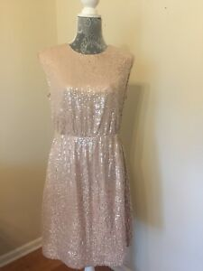 White Capped Sleeve Sequin Dress