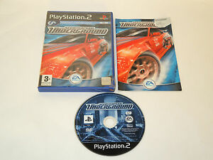 NEED-FOR-SPEED-UNDERGROUND-complete-in-box-with-manual-PS2-Playstation-PAL-game
