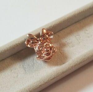 Rose Gold Disney S Minnie Mouse Charm Add On Sterling Silver Pandora Bracelet Ebay