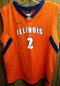 d059ea11cb4 Image is loading Illinois-Illini-Nike-Replica-Basketball-Jersey-Boys-Size-