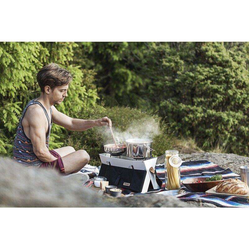 Primus fuego de campamento Juego de Cocina Cocina Cocina de 3 Piezas De Acero Inoxidable - 2 X 1 X Cacerola Sartén 07e1b2