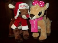 Dandee Large 12 Set Clarice + Rudolph Red Nosed Reindeer Plush Toy Doll