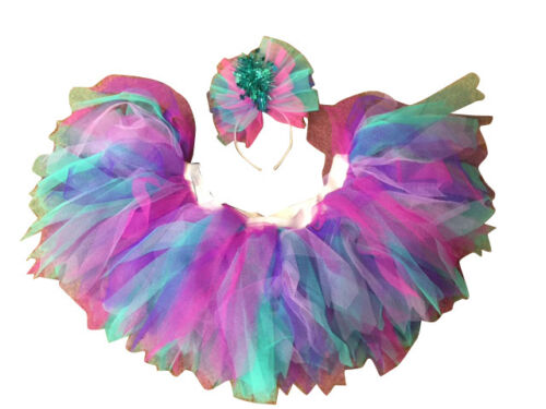 NEON Gonna Tutu Sirena Turchese Rosa Lilla Lavanda anni/'80 Costume Nubilato