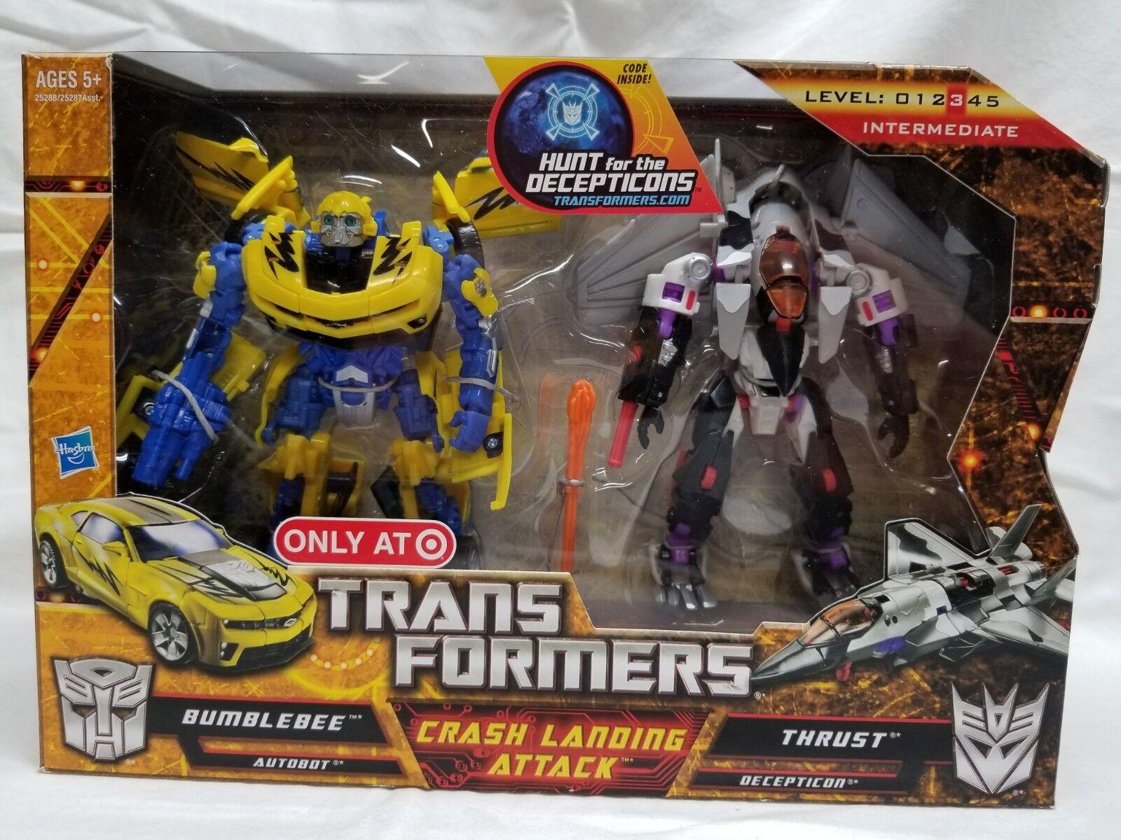 Transformers HFTD Crash Landing attaque Bumblebee poussée Hunt for the Decepticons