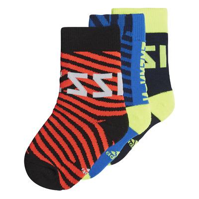 Adidas Kids Training Ankle Socks 3 Pairs Lifestyle Infant Cotton Blend DW4753