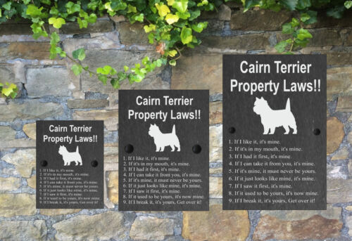 Property Laws Funny Dog Slate Sign Gate House 3 Sizes ALL BREEDS available A-C