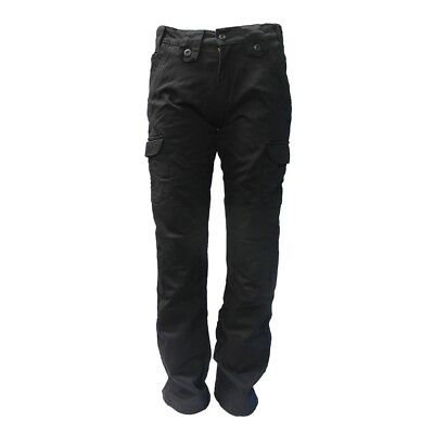 Black 36 Bull-It SR6 Cargo 17 Easy Covec Motorcycle Jeans Trousers Short
