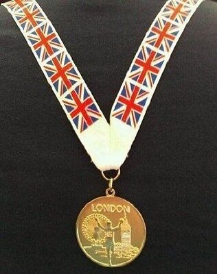 mi3 Precise Gold Medal Gold London 2012 Olympics Style Medal With Lanyard