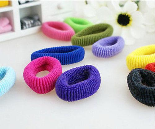 Cool 100Pcs Elastic Rope Ring Hairband Fashion Women Girl Hair Band Ponytail Hot