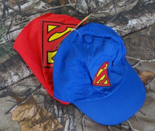 DC Comics Boys/' blue//red Superman Cape Hat with Logo,SIZE 12-24 Months