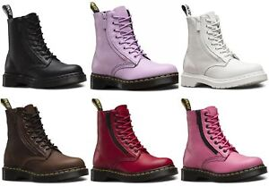 828fc3e2ceabd7 Dr Martens Ladies Pascal 1460 Aunt Sally Grizzly Leather Zip Leather ...
