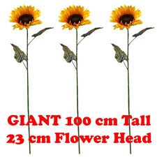 3 x 100 cm GIANT SINGLE ARTIFICIAL SUNFLOWER