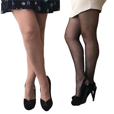 Fine 3 Pares Essexee Legs Talla Extra 20 Denier Resistente A Rasgaduras Medias Negro, Hosiery & Socks