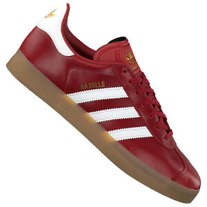 Details about Adidas Retro Gazelle Womens Mystic Red Leather Sneaker Casual  Shoes Red Maroon- show original title