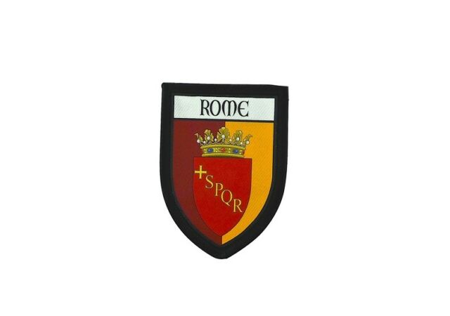 Patch printed embroidery travel souvenir shield city flag rome italy