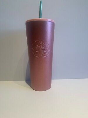 Starbucks Holiday Rare 24oz Glitter Gradient Gold Sparkle Cold Cup Tumbler 2019