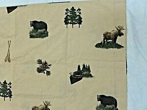 new 2 pc~ PILLOW CASE SET~FISH ~Cabin~ LODGE wilderness Fishing Look neutral