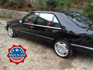 1991-1999 Mercedes S Class W140 4Pc Window Sill Trim Overlay Accent S420 S320