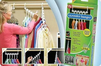 Hanger Wonder Closet Organizer Space Magic Saver Hook Clothes 8 New Pc Set Pack