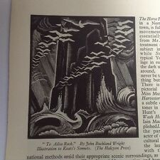 1930s Woodcut Print To Ailsa Rock, John Buckland Wright ill'n to Keats's Sonnets