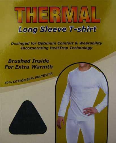 Da Uomo TERMICA manica lunga T Shirt variours dimensioni e colori