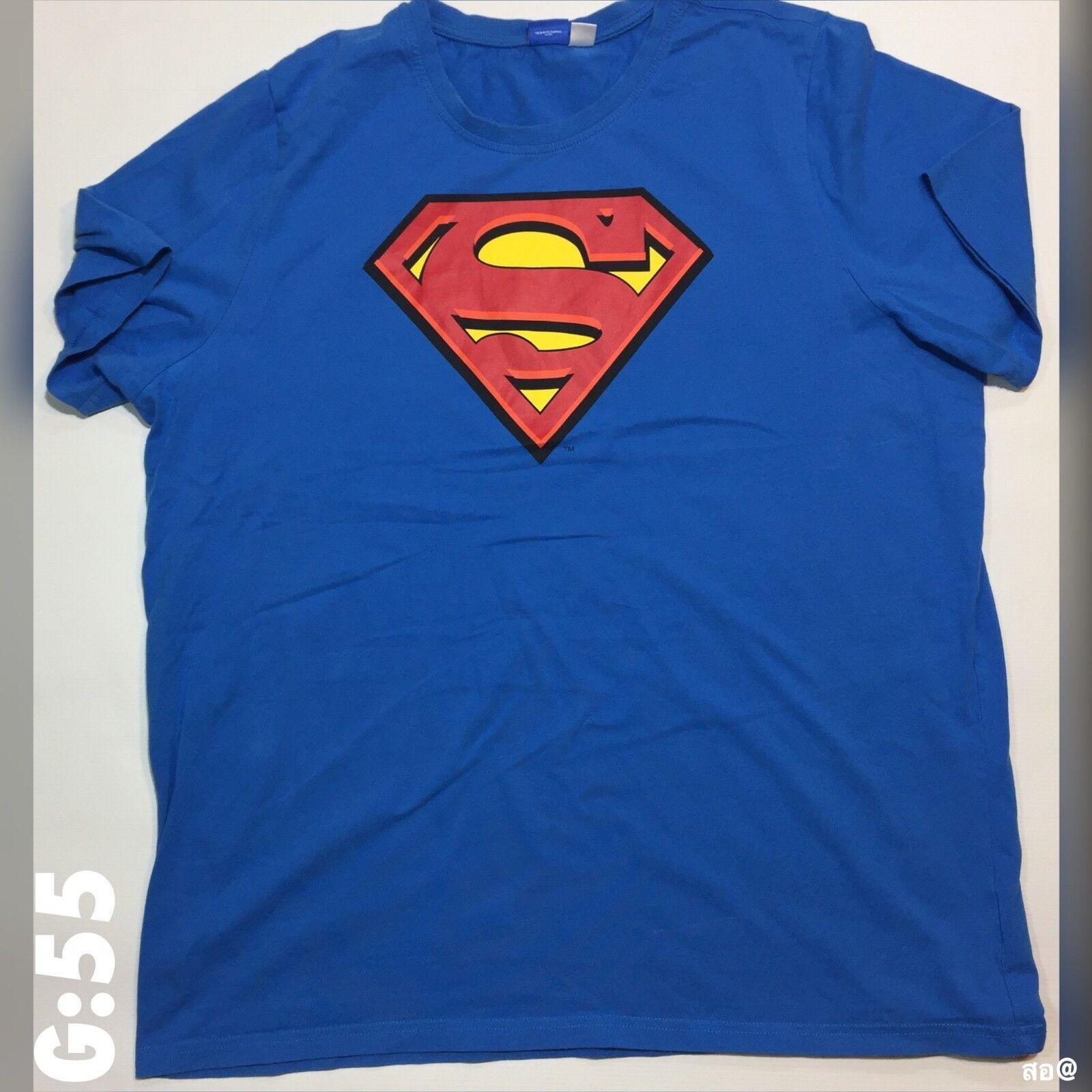 Mens Superman Official Merchandise Logo bluee T Shirt XXL P-P 24  Length 25
