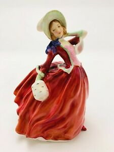 ROYAL-DOULTON-AUTUMN-BREEZES-FIGURINE-H-N-1934-Corp-1939-RD-amp-Co-Limited