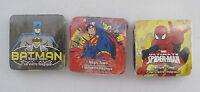 Lot Of 3 Super Hero Magic Towels Batman Superman Spider-man Cotton Washcloths
