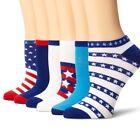 6 Pairs: K. Bell Women's No Show America Socks