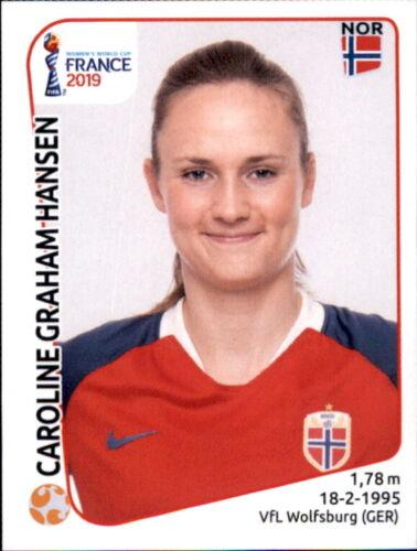 Caroline Graham Hansen Panini Frauen WM 2019 Sticker 73 Norwegen